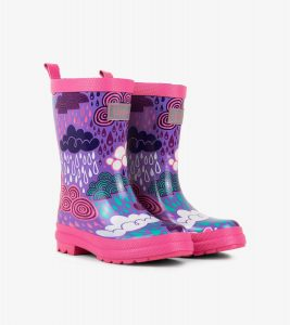 Hatley Purple Stormy Days Rain Boots