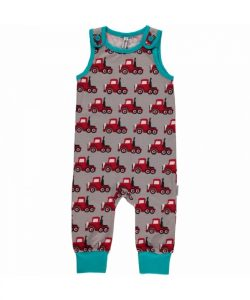 Maxomorra Truck Playsuit Dungarees