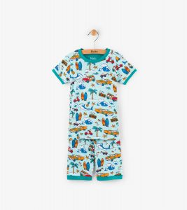 Hatley Aqua Surf Island Organic Cotton Short Pyjamas