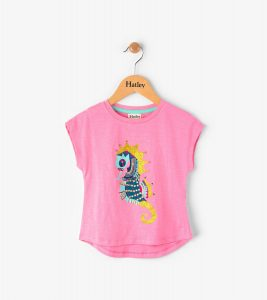 Hatley Pink Jewelled Sea Horse Tee Shirt