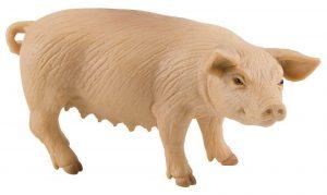 Bullyland Pink Farmyard Sow Pig Figure