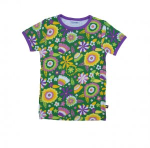 Moromini Flower Garden Short Sleeve Top