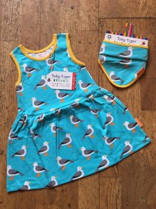 Toby Tiger Seagull Print Spin Dress