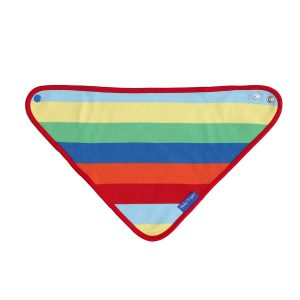 Toby Tiger Rainbow Stripe Organic Cotton Bib
