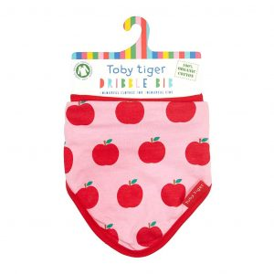 Toby Tiger Pink Apples Bib