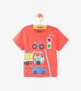 Hatley Red Intersection Fire Corallium Mini Tee Shirt