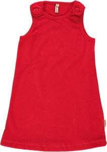 Maxomorra Red Velour Pinafore Dress