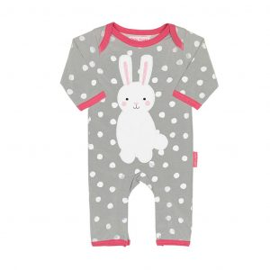 Toby Tiger Bunny Applique Sleepsuit
