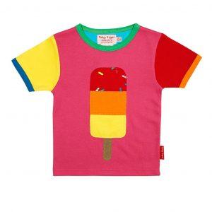 Toby Tiger Lolly Applique Short Sleeve T-Shirt