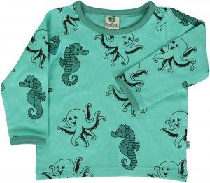 Smafolk Cascade Green Octopus Long Sleeve T Shirt