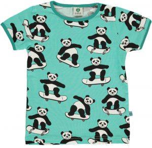 Smafolk Cascade Green Panda On Skateboard T Shirt