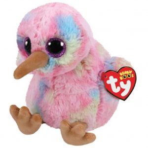 Ty Beanie Boo Kiwi the Multi-Coloured Kiwi Bird