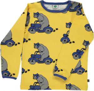 Smafolk Ochre Yellow Motor Bike Bear Top