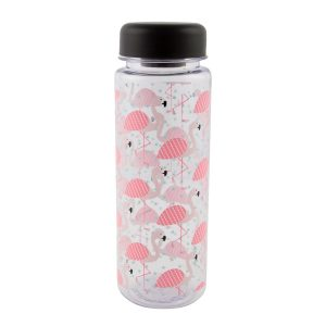Sass & Belle Tropical Flamingo Clear Water Bottle