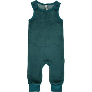 AW18 Maxomorra Petrol Velour Playsuit