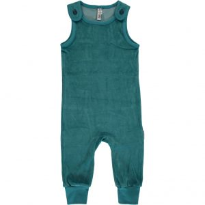 AW18 Maxomorra Soft Petrol Velour Playsuit
