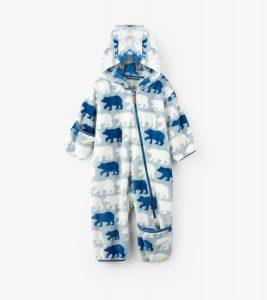 Hatley Polar Bear Fuzzy Fleece Baby Bundler