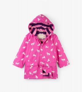 Hatley Colour Changing Unicorn Silhouettes Raincoat