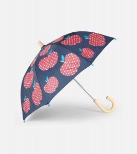 Hatley Navy Polka Dot Apples Umbrella