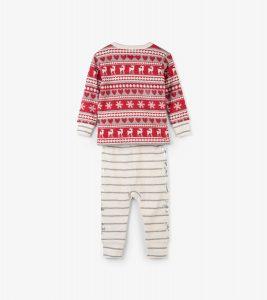 Hatley Fair Isle Fawn Organic Cotton Baby Pyjamas