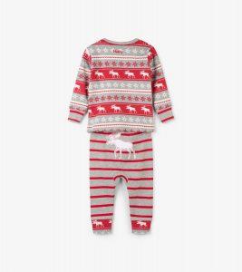 Hatley Fair Isle Moose Organic Cotton Pyjamas