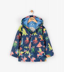 Hatley Navy Mega Monsters Waterproof Raincoat
