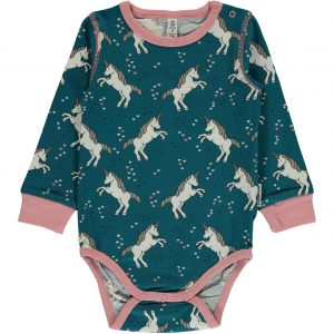 Maxomorra Blue Unicorn Dreams Long Sleeve Body