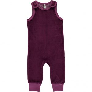 AW18 Maxomorra Purple Velour Playsuit