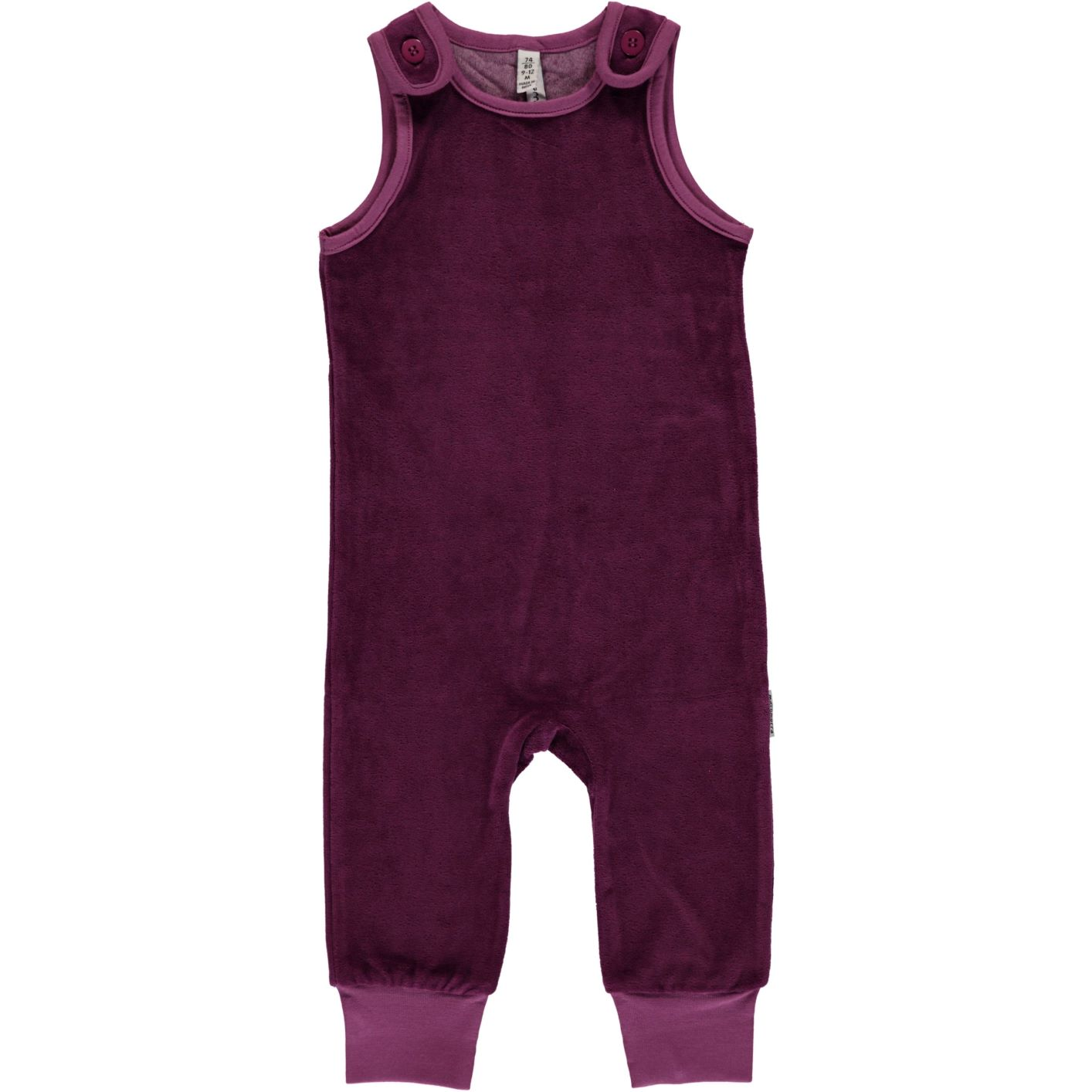2cbe1d99eb AW18 Maxomorra Purple Velour Playsuit - Catfish Kids