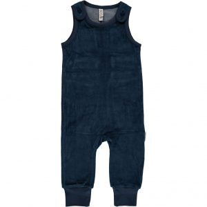 AW18 Maxomorra Dark Blue Velour Playsuit