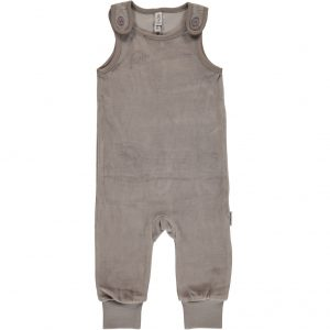 AW18 Maxomorra Light Grey Melange Velour Playsuit