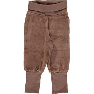 AW18 Hazel Brown Velour Rib Pants
