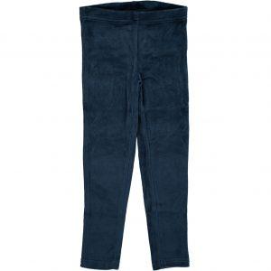 AW18 Maxomorra Dark Blue Velour Leggings