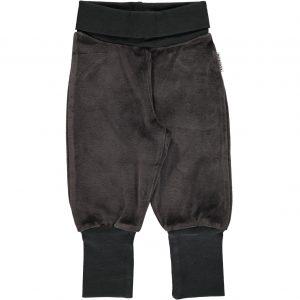 AW18 Maxomorra Dark Grey Melange Velour Rib Pants
