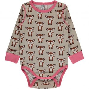 Maxomorra Fawn Print Long Sleeve Body