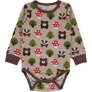 Maxomorra Forest Print Long Sleeve Body