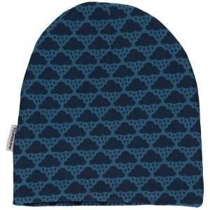 AW18 Maxomorra Blue Cloud Mono Print Velour Hat