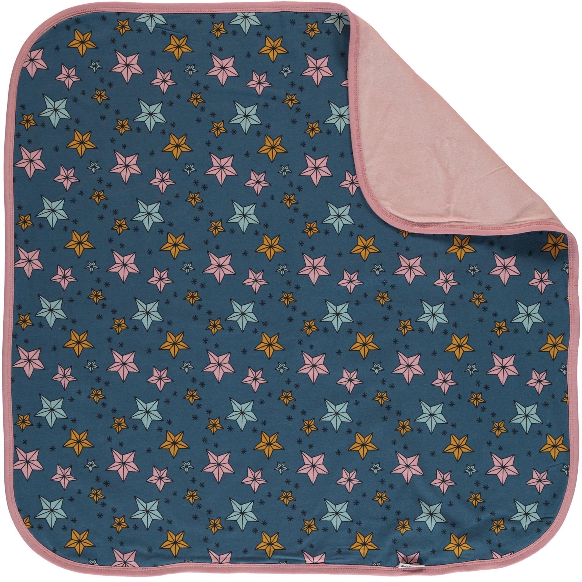 Maxomorra Blue Night Sparkle Organic Cotton Baby Blanket - Catfish Kids b22eb16b62