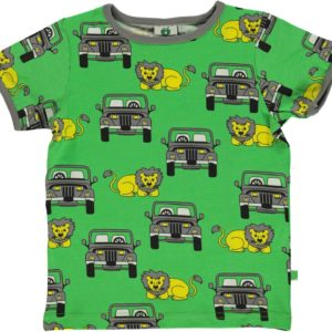 Smafolk Green Lion and SUV Short Sleeve Top
