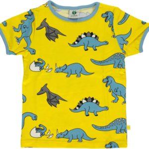 Smafolk Yellow Dinos Short Sleeve Top