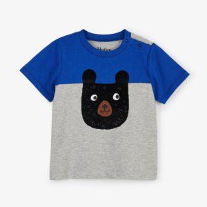 Hatley Blue Colour Block Bear Tee