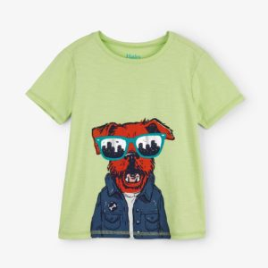 Hatley Lime Hip City Pup Graphic Tee