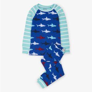 Hatley Shark Frenzy Organic Cotton Raglan Pyjamas