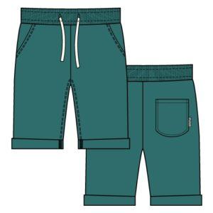 SS19 Maxomorra Green Petrol Knee Length Sweatshorts