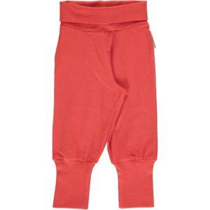 SS19 Maxomorra Rusty Red Rib Pants