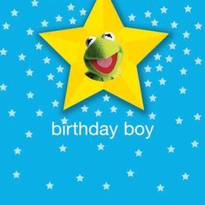 Hype Kermit Badge Birthday Boy Card