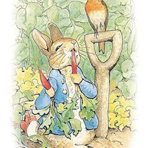 Hype Associates Peter Rabbit eating Carrots Blank Card
