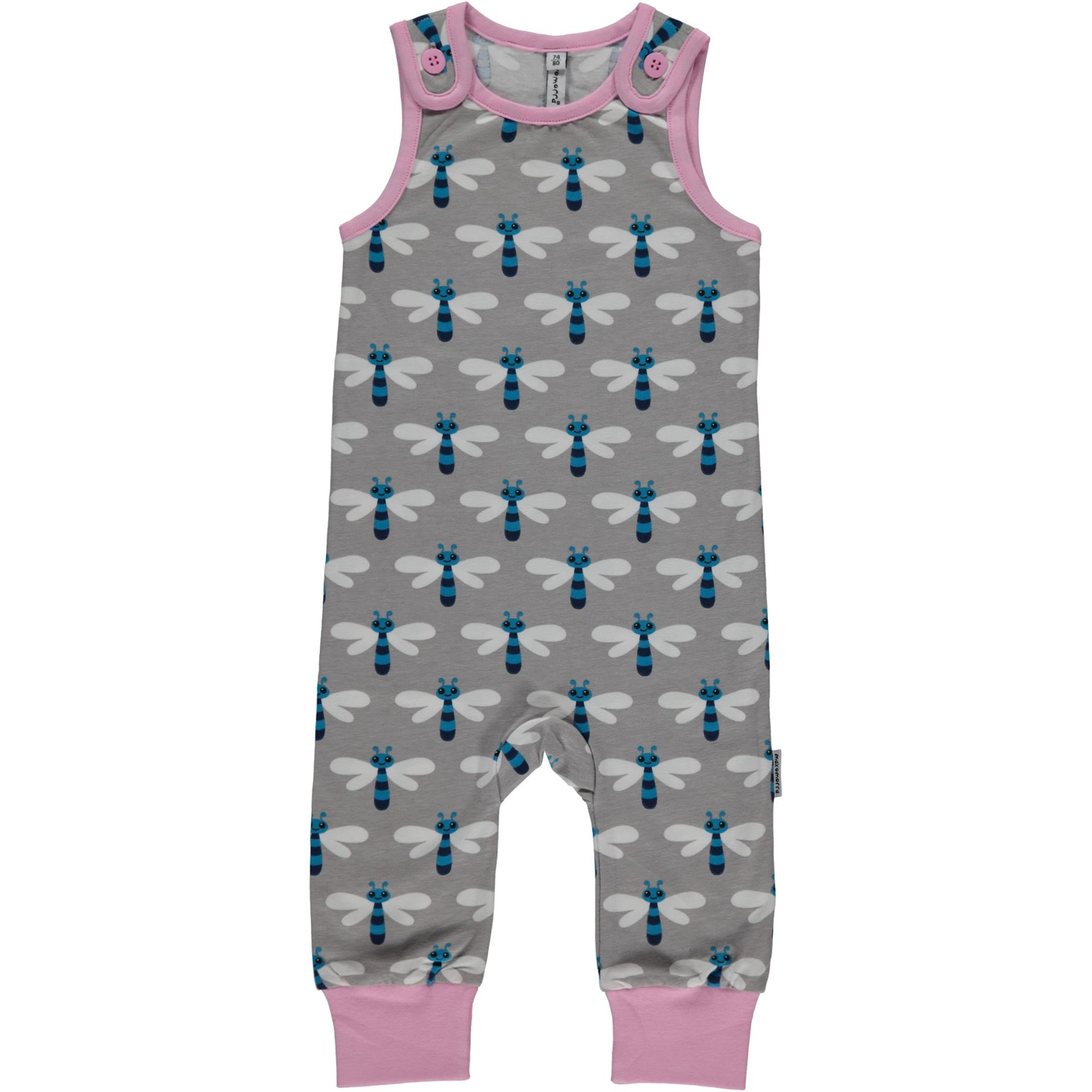 7ea5332db1f74 Maxomorra Dragonfly Organic Cotton Playsuit - Catfish Kids