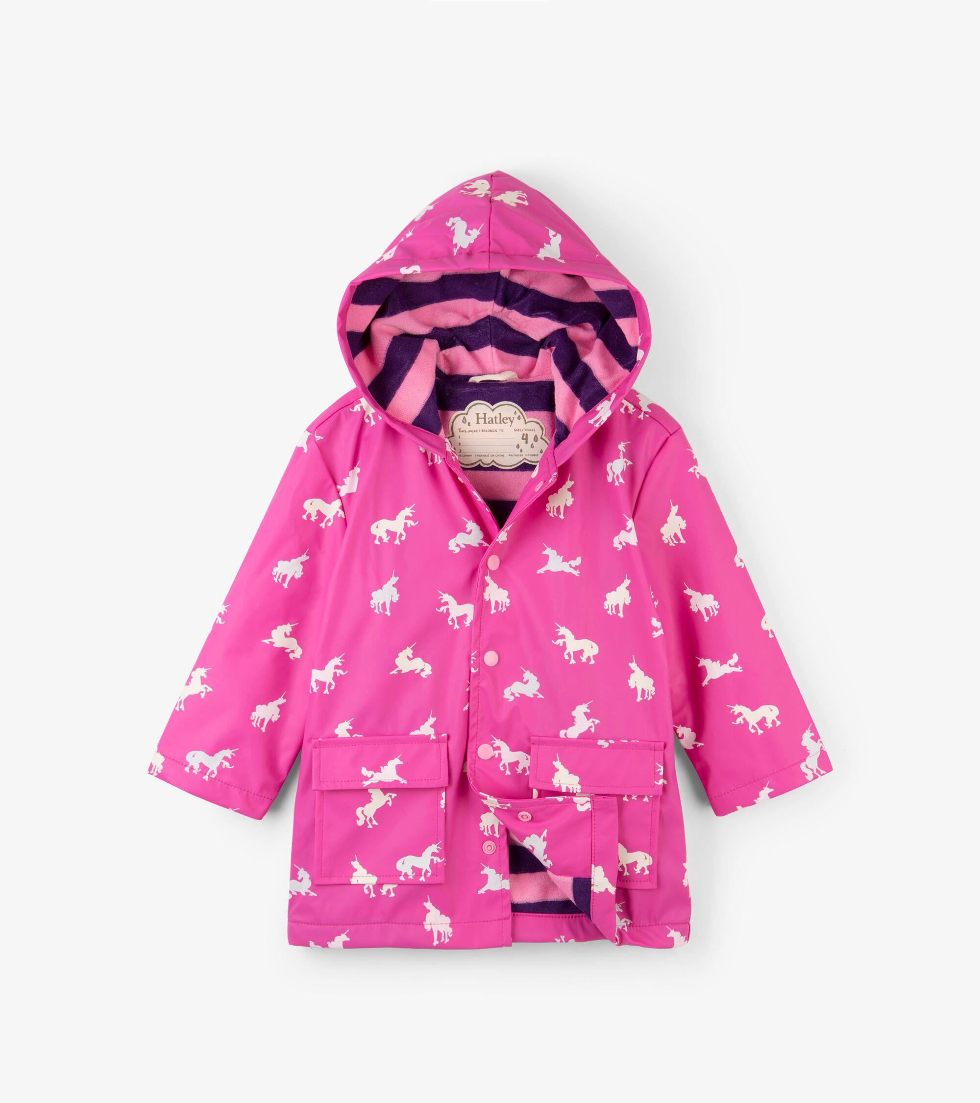 68e1130b32111 Hatley Colour Changing Unicorn Silhouettes Raincoat - Catfish Kids