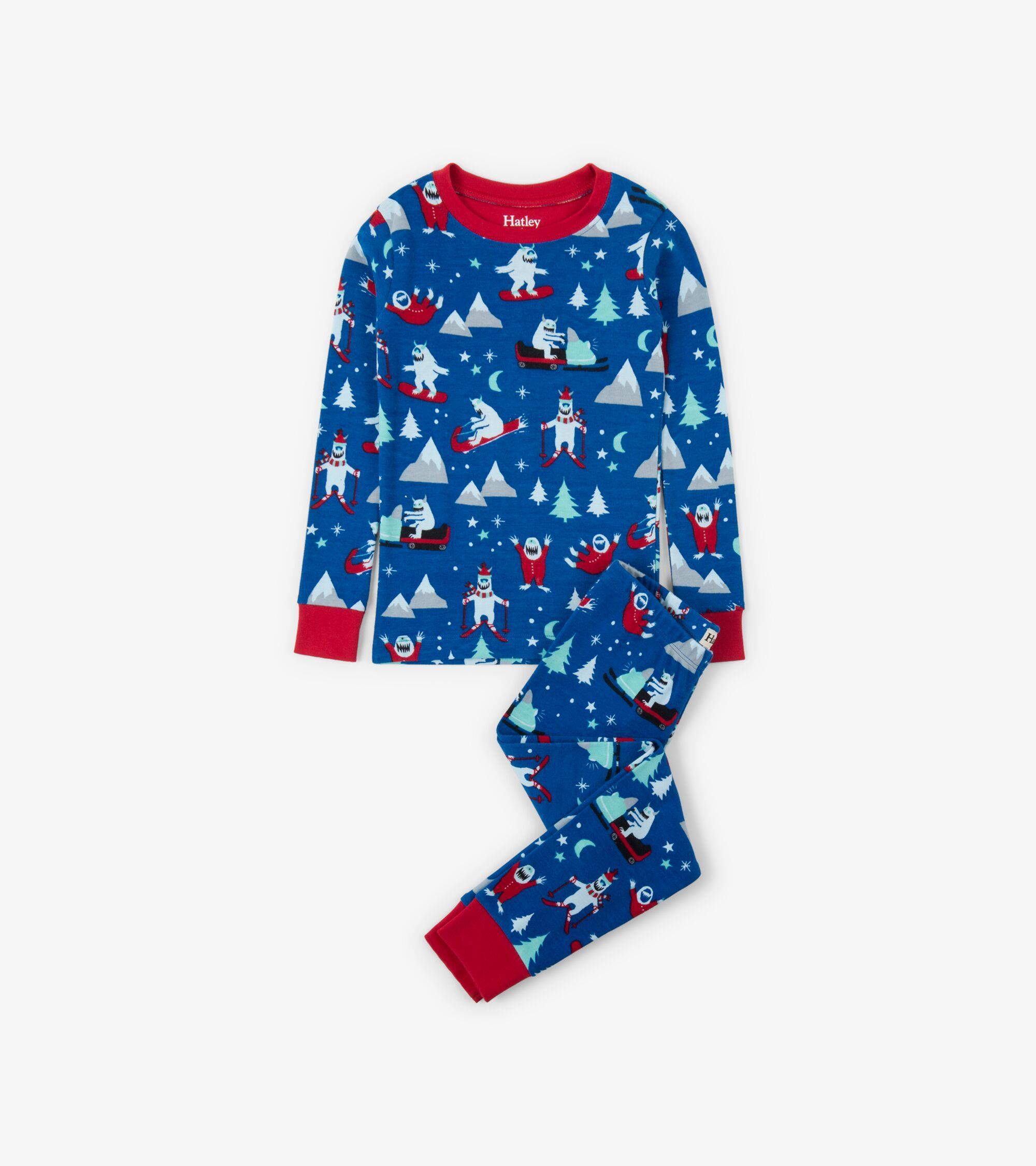 Hatley Mountain Monsters Organic Cotton Pyjamas - Catfish Kids